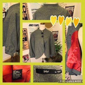 Sportsgirl Cute Grey Jacket Size AU14